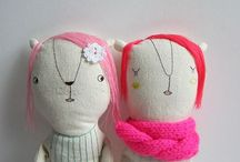 ..... STUFFIES ..... / Created dolls and toys from the imagination ..... / by FLOSSIE