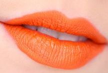 orange lipcolours / by The Love of Colour