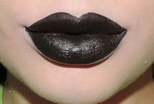 black lipcolours / by The Love of Colour