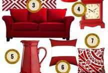 RED ROOM / A color coordinated board all about RED home decor