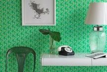 GREEN ROOM / A color coordinated board all about GREEN home decor