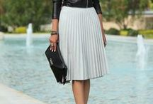 Midi skirts and dresses
