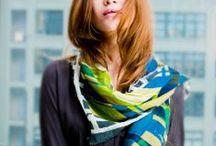 Fall 2014 / #Fall #scarves from the collection #ElizabethGillett #scarves #NewYork, #designer #watercolor #fashion #accessories #cashmere http//: www.elizabethgillett.com instagram @elizabethgillett