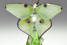 All Bottled Up.Art Glass, Vintage Glass / Perfume in adorable glass, luxurious