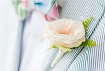 Prendidos ~ Boutonnieres / Ojales decorados con flores para novios & gentlemens #Boutonnieres