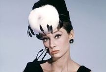 Audrey Hepburn in Hats / Audrey Hepburn wore many hats in her day. Sometimes literally! Here are some great pictures of Audrey Hepburn wearing awesome hats.