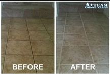 Tile and Grout Cleaning / Tile and grout cleaning tips and pics of the floors in your kitchen and bathroom. Featuring before and after pics and the different types of tiles that professionals like us clean on a regular basis.