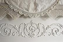 White on white,lace on satin.