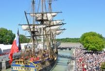 Festival of Sails / Beautiful photos from the Fêtes des Voiles, or Festival of Sails, debuting the Hermione's full sails on May 17th in Rochefort, France.