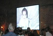Audio-Visual Images / views of different a/v installations at cafe amelie events
