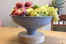 Vintage lampshade fruit bowl / Vintage lampshade fruit bowl by Geoff Meston upcycling upcycled upcycle