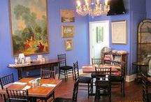 """Blue Room Dining / The upstairs """"Blue Room"""" can be used for small private luncheons or dinners."""