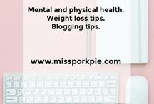 Miss Pork Pie - Mental and Physical health Blogger. Weight loss tips and blogging tips. / Mental health and physical health. Weight loss tips, blogging tips, blog, blogger, blogging, tips, parenting, beauty, freelance writer, how to