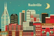 Viva Nashvegas! A tribute to America's Music City / A small tribute to our little city's flashy neighbor. We're all just a bunch of Nashville cats at heart. / by 12-Point SignWorks