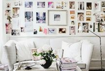 Photo wall displays. / Ideas for photo wall displays and arrangements in the home.
