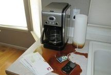 "Coffee / Use coupon code ""pinterest"" at JustinCaseDeck.com for 15% off your order! Has your coffee maker ever malfunctioned, overflowing coffee and grounds onto the counters making a big mess? JustinCaseDeck.com manufactures and sells a specialized platform that sits beneath your Coffee Maker. When an overflow occurs the liquid is captured in the Just in Case Deck."