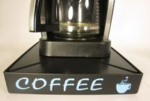 "Coffee and Kitchen Gadgets / Use coupon code ""pinterest"" at JustinCaseDeck.com for 15% off your order!  Has your coffee maker ever malfunctioned, overflowing coffee and grounds onto the counters making a big mess?  JustinCaseDeck.com manufactures and sells a specialized platform that sits beneath your Coffee Maker. When an overflow occurs the liquid is captured in the Just in Case Deck."