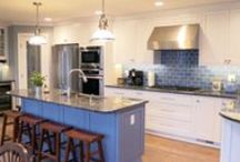 White Kitchens / Custom cabinets, kitchen remodels that include custom white cabinetry. For the white kitchen lovers!