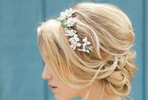 Haristyles for weddings on the beach. / Try to wear your hair up or back from your face for a beach wedding.  The breeze can blow your hair into your face so plan ahead.
