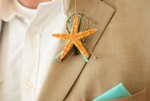 Boutonnieres / Great bouts for men that are beachy.