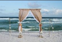 Beach Wedding Designs / You can see all our designs on our website.  Our goal with design is to move the bride shine.  www.beachbrideweddings.com