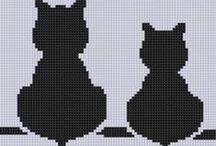 Cross Stitch-állatok,madarak, pillangók, cicák / Keresztszemes állatos minták