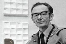 """Jan Schoonhoven (1914-1994) / Johannes Jacobus """"John"""" Schoonhoven (Delft, le 26 Juin, 1914 - il, Juillet 31, 1994) était un artiste néerlandais. Il faisait partie du mouvement """"Nederlandse Nul-beweging""""."""