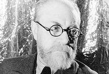 H. Matisse (1869-1954) Peinture / H. Matisse (1869-1954) est un peintre, dessinateur, graveur et sculpteur français. Figure du xxe siècle, son influence sur l'art de la seconde partie du siècle est considérable par l'utilisation de la simplification, de la stylisation, de la synthèse et de la couleur comme seul sujet de la peinture pour les nombreux peintres figuratifs ou abstraits qui se réclameront de lui. Il fut le chef de file du fauvisme. De Picasso à Warhol, tous ont été confrontés à sa gloire et son génie.