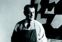 Serge Poliakoff (1900-1969) / Serge Poliakoff, né le 8 janvier 1900 à Moscou et mort le 12 octobre 1969 à Paris, est un peintre français d'origine russe appartenant à la nouvelle École de Paris.