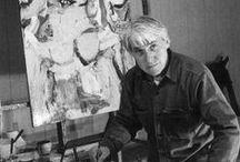 W. de Kooning (1904-1997) / Willem [de] Kooning, né le 24 avril 1904 à Rotterdam et mort le 19 mars 1997 à Long Island (New York), est un peintre d'origine néerlandaise, naturalisé américain, précurseur de l'expressionnisme abstrait.  De Kooning peint des figures, des portraits, en utilisant la gouache, l'aquarelle, le pastel, les techniques mixtes ; il est aussi sculpteur et dessinateur.