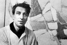 Nicolas de Staël (1914-1955) / Figure de l'art abstrait d'après-guerre, Nicolas de Staël est un peintre français d'origine russe, dont l'oeuvre se déroule sur une douzaine d'année. Il abandonne rapidement la peinture figurative au profit de compositions abstraites où la matière picturale devient un élément caractéristique de son oeuvre grâce à la superposition des couleurs et les empâtements