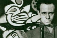 R. Pousette-Dart (1916-1992) / Richard Warren Pousette-Dart, né le 8 juin 1916 à Saint Paul – mort le 25 octobre 1992 à New York, est un peintre américain. Il est un des fondateurs de l'école de New York.