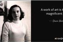 "Grace Hartigan (1922-2008) / Grace Hartigan (1922–2008) eat une peintre Americana du mouvement ""Abstract Expressionist"" de l'école de  New York en 1950. Ses amis: Jackson Pollock, Larry Rivers, Helen Frankenthaler, Willem and Elaine de Kooning, Frank O'Hara, Knox Martin"