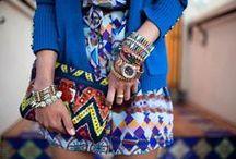Ethno, folkloric style / ethno ethnic folkloric hippie boho style patterns on clothes