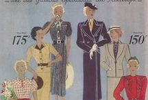 Vintage patterns and fashions