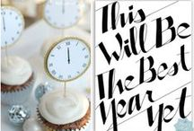 New Years Celebrations / Creative ideas and recipes to make your New Year's Eve party a snap to pull off!