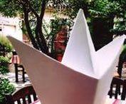 handmade origami boat / clay-handmade-origami