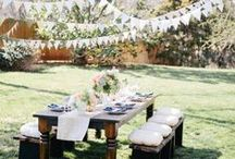 Garden Party / Ideas for themes, decorations and food for Summer garden parties