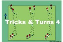 SOCCER DRILLS FOR U9-U12 PLAYERS / This section covers multiple types of practice activities, from warm-ups and individual training to small-sided and group games. The exercises are tailored to meet the cognitive and physical characteristics of each age group. They contain individual activity descriptions with accompanying coaching points, so coaches are aware of what to watch for during each exercise.
