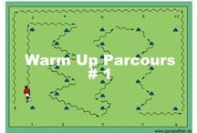 WARM UP SOCCER DRILLS / Find soccer warm up routines and drills that bring variety to training sessions and the fun of playing soccer starts straight away. There is something here for all sizes and age groups. Use before games and training sessions.