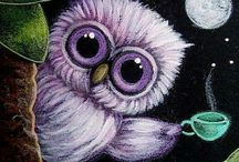 Owl My Imagination went into the Creation of.... / Owl Artwork / by Crystal Takemoto