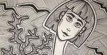 Frida Kahlo inspire me / My Fridamania. Illustration, graphic, photo, jewellery, craft, make-up inspired by Frida Kahlo