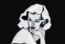 Film Noir inspired illustration