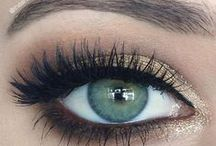 Make up for hazel/green eyes