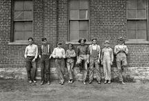 child labor / In 1908, Lewis Hine became the photographer for the National Child Labor Committee. For over a decade, Hine documented child labor in American industry to aid the NCLC's lobbying efforts to end the practice. While taking many of these photos, Hine was frequently threatened with violence or death by factory police and foreman. To avoid these threats, he assumed several guises: a fire inspector, post card vendor, bible salesman, and an industrial photographer making a record of factory machinery.