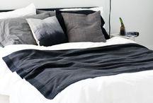 Bedroom // / #minimalist #black #white #nordic #scandinavian #scandi #bedroom #comfy #natural