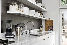 Kitchen // / #minimalist #black #white #nordic #scandinavian #scandi #kitchen #eat #simple #natural