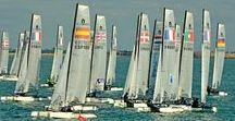 Sortie en mer - Régates rochelaises / A bord du bateau LA MALINE, nous avons assisté, au large de La Rochelle, aux phases finales des régates pour la sélection des prochains Jeux Olympiques de Rio 2016