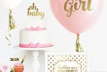 Baby Shower Ideas for Girls / Baby Shower Ideas for Girls | DIY Decorations | Games | Food | Pink + Purple Favors + Gifts | Discover adorable baby shower ideas for girls and twins. You'll find DIY decorations, games, food, party favors, gifts, pink and purple themes and supplies for a baby shower that will impress the guests and honor the baby.