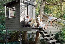 Garden Kids Hideout / Differentierade ideas fot our kids playhouse / treehouse
